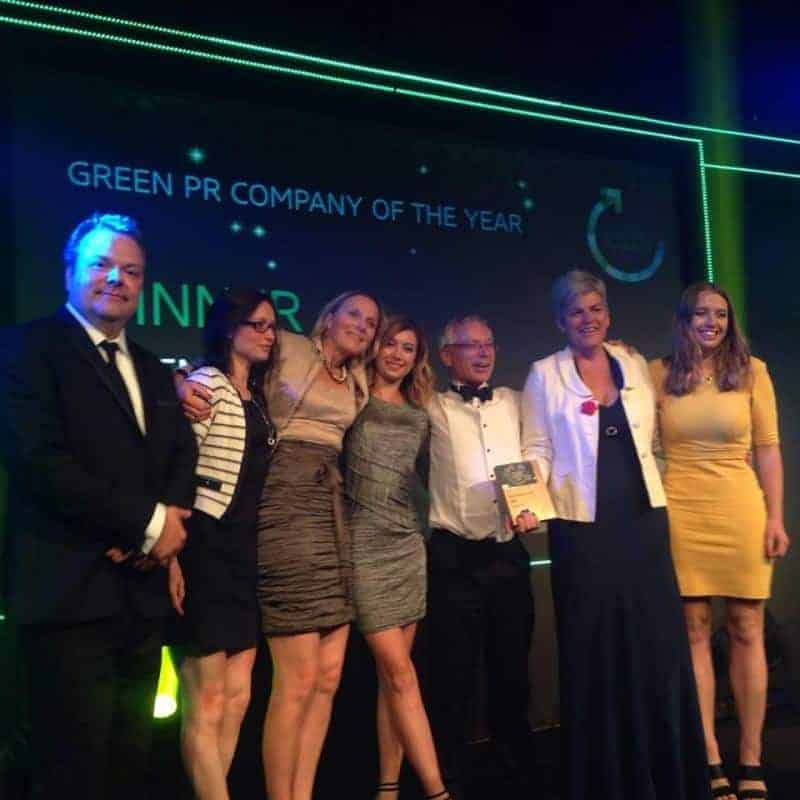 Business Green Leaders Awards, Winner Green PR Company of the Year. Greenhouse PR