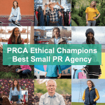 PRCA Ethical Champions Award            Best Small PR Agency 2018